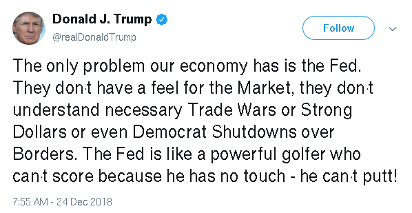 Name:  Screenshot_2018-12-27 Donald J Trump on Twitter The only problem our economy has is the Fed They.png Views: 182 Size:  18.8 KB